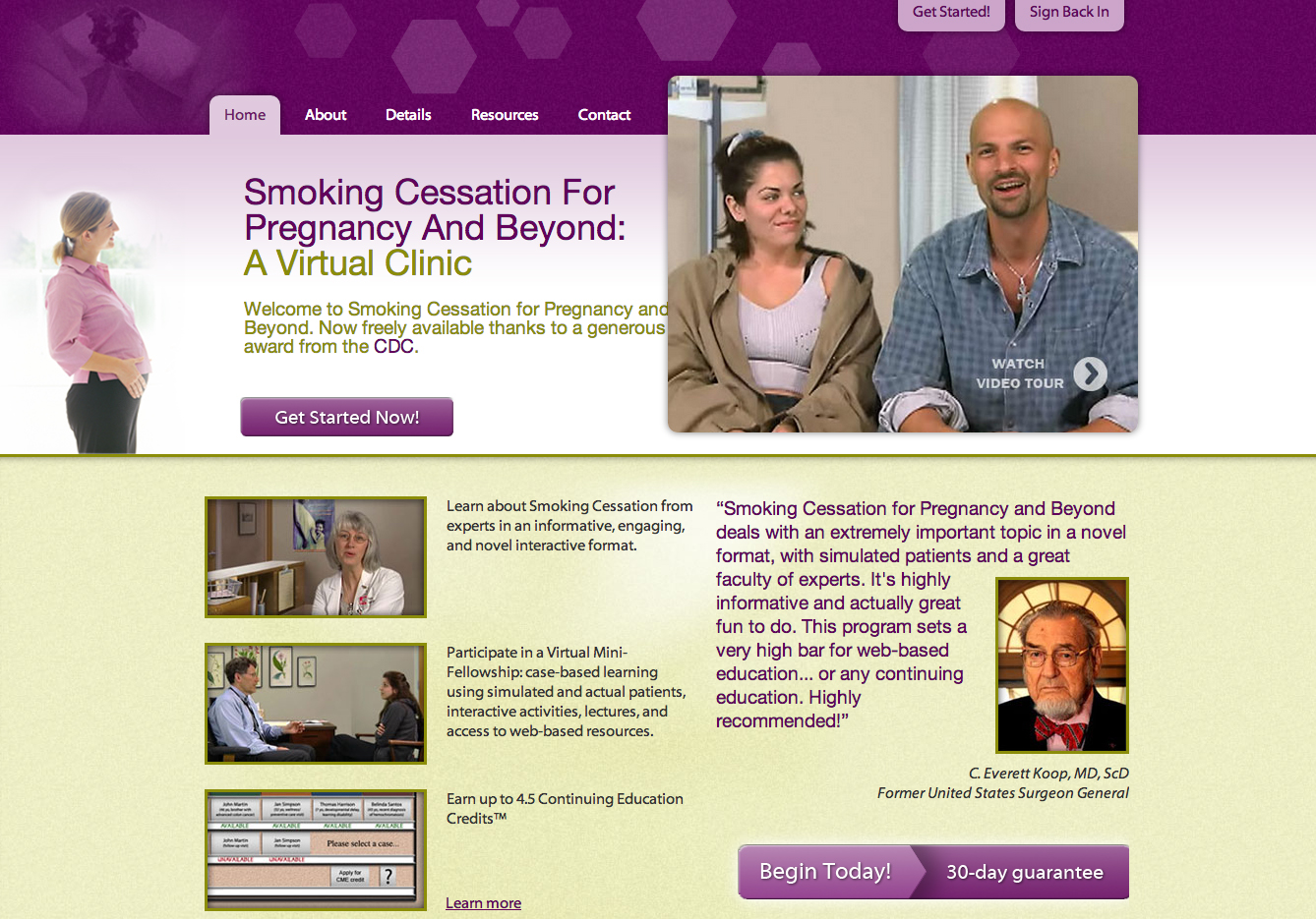 Smoking Cessation and Pregnancy